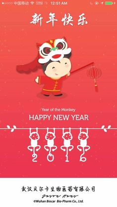 中文新年快乐 English: Happy New Year  Français: Bonne année  Spanish: Feliz Ano Novo