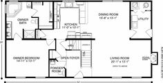Brook View (Plan B) Floorplan of Ameri-Log Collection - All American Homes