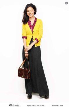 ca39898ccfa4 Saia longa + camisa + cardigan com mix de cores Maxi Styles