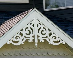 Wholesalemillwork Maintenance Free Gable Decorations - quality home accents at discount prices. Victorian Porch, Folk Victorian, Victorian Homes, Shed Plans, House Plans, Gable Window, Roof Window, Gable Trim, Gable Decorations