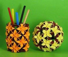 Origami pencil box