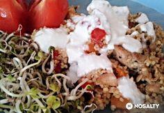 Csirkemell zöldséges kölessel Kefir, Grains, Rice, Eggs, Beef, Breakfast, Food, Meat, Morning Coffee