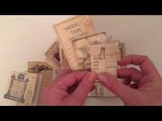 Tsunami Rose Designs: DT Project: Beth Wallen- Vintage Mini Junk Journal using various Ephemera Packs