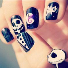 Holloween nail art