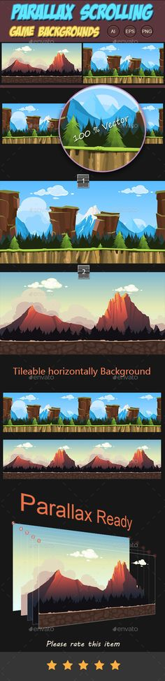 Parallax Scrolling Game Backgrounds You can use this background for your game application/project.  Buy Now : http://graphicriver.net/item/parallax-scrolling-game-backgrounds/10764089?ref=graphicon