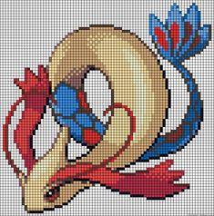Milotic - Pokemon perler bead pattern