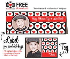 Free Valentine's Day Photo Templates for school parties!