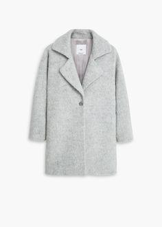 Yakalı yün palto