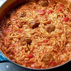 Nigella Lawson's Meatballs with Orzo