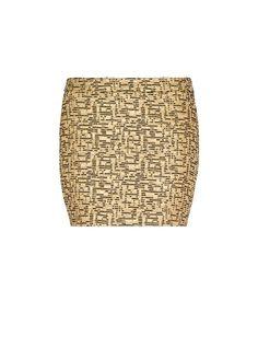 MANGO - Minifalda brocado metalizado