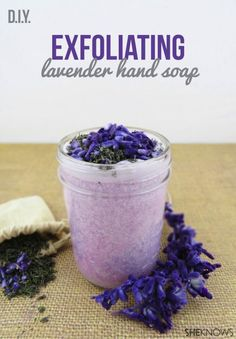 Learn how to make a beautiful Exfoliating Lavender Sugar Scrub with this simple and quick recipe! #DIY #Beauty #SugarScrub