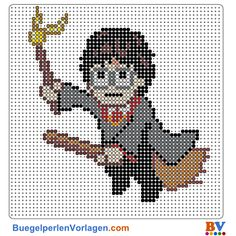 Harry Potter Bügelperlen Vorlage. Auf buegelperlenvorlagen.com kannst du eine große Auswahl an Bügelperlen Vorlagen in PDF Format kostenlos herunterladen und ausdrucken.