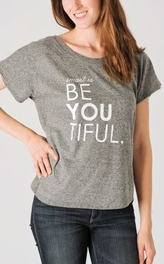 Smart Is Beautiful Shirt in Grey by 4 All Humanity
