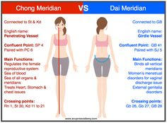 Chong vs Dai Meridians in TCM