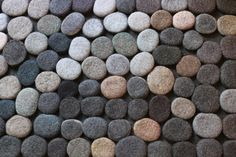 This carpet size is diameter. Each pebble is made by hand from wool. They are glued at the base with a special carpet glue. Suitable for any home - childrens room, living room, bathroom or kitchen! Ready to ship. Thank you for your interest Carpet Glue, Diy Carpet, Carpet Ideas, Hallway Carpet Runners, Cheap Carpet Runners, Wool Rug, Wool Felt, Stone Rug, Textured Carpet