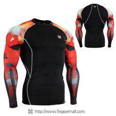 FIXGEAR CPD-B64R Compression Skin Tights Under Shirts MMA Workout GYM Fitness