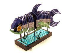 Genial pez móvil con Lego... (gif animado :D)