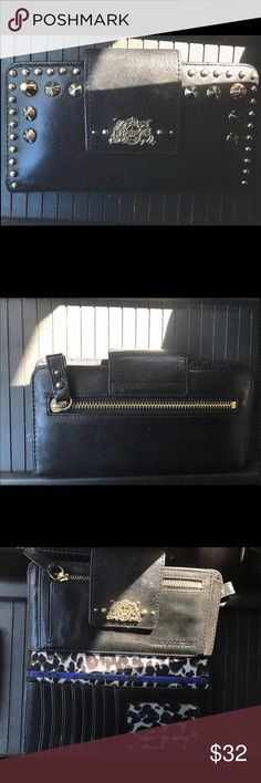 Juicy Couture Wallet Excellent condition wallet. Black leather with gold studs. Juicy Couture Bags Wallets