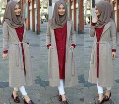 Jacket / Jacket / Ceket – www. Muslim Women Fashion, Arab Fashion, Islamic Fashion, Modest Fashion, Girl Fashion, Fashion Outfits, Fashion Muslimah, Modele Hijab, Hijab Chic