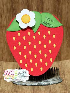 SVG Cutting Files: Strawberry Invites