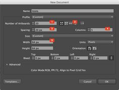 Creating an Illustrator Document For Icon Design