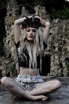 """""""Amazed by Aztec"""" shoot at Painshill Park. Photography & Styling by Sophie Seymour. Modelling by Gina Harrison."""