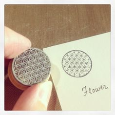 Flower of Life Rubber Stamp by etchythings on Etsy, $5.06