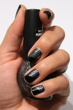 black and sparkly