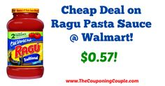 Awesome deal!! Did you receive this coupon in the Sunday paper?! Cheap Deal on Ragu Pasta Sauce @ Walmart!  Click the link below to get all of the details ► http://www.thecouponingcouple.com/cheap-deal-on-ragu-pasta-sauce-walmart/ #Coupons #Couponing #CouponCommunity  Visit us at http://www.thecouponingcouple.com for more great posts!