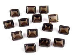 Wholesale Lot Natural Smoky Quartz Rectangle 9x11mm Normal Cut Loose Gemstone #Raagarw