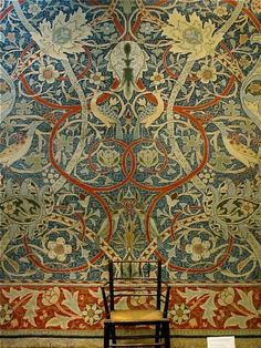 Bullerswood Carpet, designed by William Morris,1889. Wool on cotton, 13 feet by 25 feet. Currently on display at the Victoria & Albert Museum, London.