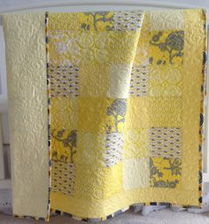 Modern Baby Girl Quilt featuring Floral by KimsQuiltingStudio, $149.99