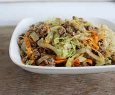 Yummy Beef and Cabbage Bowl