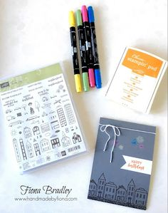 Happy Birthday - In The City - Stampin' Up! - #inkitstampit design team blog hop - Fiona Bradley
