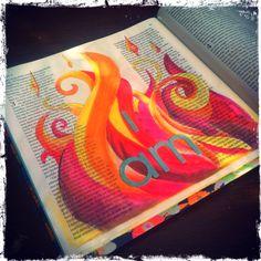 Bible art journaling. Exodus 3:14