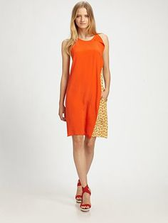 Saks...3.1 Phillip Lim...Sleeveless Leopard Print Ruffle Dress