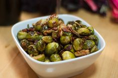 Sprouts with bacon, Halibut and Brussels sprouts on Pinterest