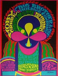 Benefit concert with Moby Grape, Big Brother, and others at the Avalon Ballroom