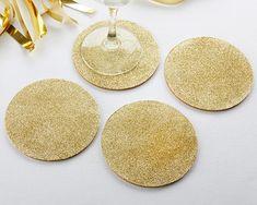 GOLD GLITTER COASTERS