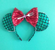 Ariel minnie ears  by Yeselyscreations on Etsy, $22.00