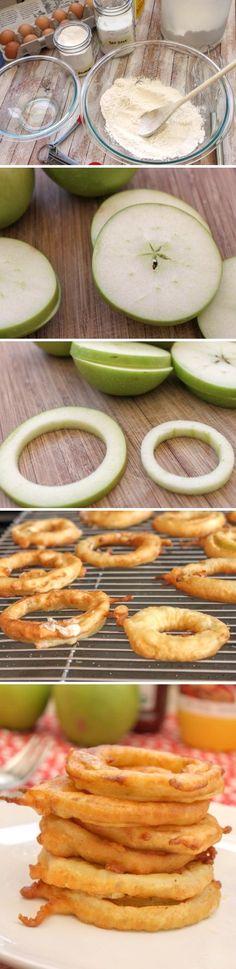 Recetas para niños: aritos de manzana receta con fruta