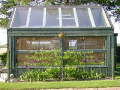 garden sheds from repurposed materials | Salvaged window greenhouse by Brian Koehl. Koehl, a master gardener ...