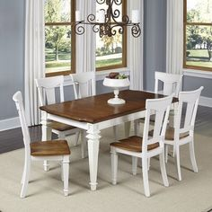 Home Styles Americana 7-Piece Dining Set, White
