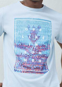 Text cotton t-shirt - T-shirts for Man | MNG Man Australia
