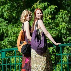 #rekodzielaeu #torby #worki z mocnej bawełny, na podszewce, z kieszonką na drobiazgi. #casualstyle #streetstyle #fiolet #pomarancz #czern
