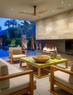 Patio and Deck in Palm Springs, CA by The Wiseman Group Interior Design, Inc.