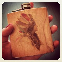 It's a classic Spitfire Girl Flask must have. #spitfiregirl #booze #musthave #wood #natural #losangeles