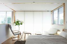 White Japanese Bedroom Design