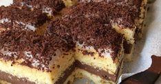 """Mennyei Kakaós-rumos csoda avagy """"Kati szelet"""" recept! Pár éve találkoztam ezzel a süteménnyel és nagy kedvencem lett! Azóta is rendszeresen készítem el :) Fontos tudni, hogy egy éjszakát állni hagyjuk a tésztája miatt, ezért előző nap érdemes elkészíteni. Kb.: 20x25ös méretű sütemény lesz belőle. Hungarian Desserts, International Recipes, Tiramisu, Decoupage, Food And Drink, Sweets, Cookies, Simple, Ethnic Recipes"""