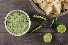 Salsa Verde -the green stuff - Our version is full of fresh jalapeño heat and bright lime, emulsified using only neutral vegetable oil. Creamy Jalapeno Sauce, Creamy Sauce, Creamy Green Salsa Recipe, Jalapeno Salsa, Fun Cooking, Cooking Recipes, Epicurious Recipes, Cooking Tips, Cooking School